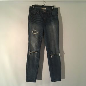 Madewell High Riser Skinny Distressed Jeans 29